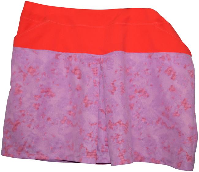 Item - Coral/Lilac Ae4339 Shored Skirt Size 12 (L, 32, 33)