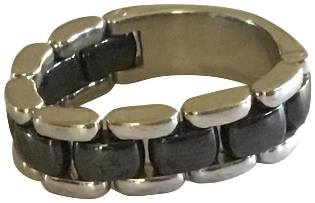 Item - Silver and Grey Ultra Ceramic Ring
