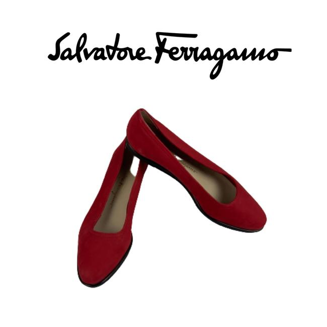 Item - Red Loafers Flats Size US 6.5 Regular (M, B)