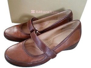 Naturalizer Mary Janes Brown and Tan Flats