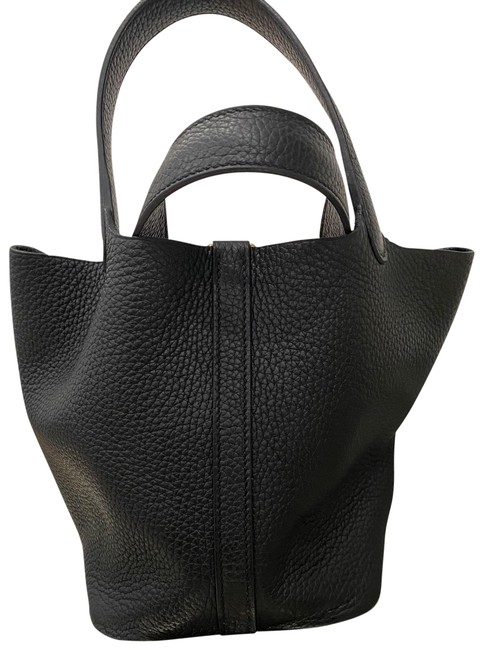 Item - Picotin 18 with Gold Hardware Black Tote