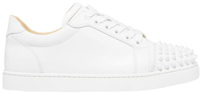 Item - White Viera Spikes Leather Sneakers Size EU 42 (Approx. US 12) Regular (M, B)