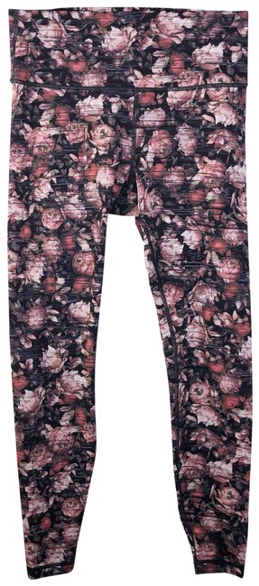 Item - Pink Wunder Under Floral Hi Rise Activewear Bottoms Size 12 (L)