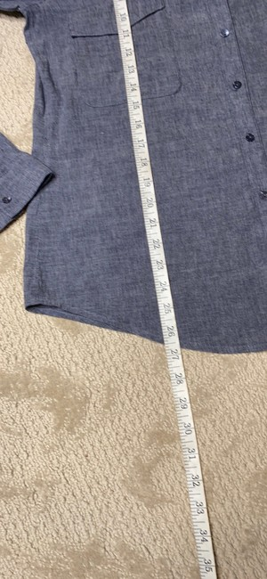 Eileen Fisher Grey Na Button-down Top Size 6 (S) Eileen Fisher Grey Na Button-down Top Size 6 (S) Image 11