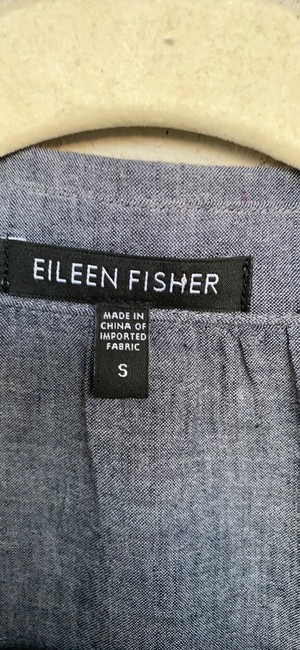 Eileen Fisher Grey Na Button-down Top Size 6 (S) Eileen Fisher Grey Na Button-down Top Size 6 (S) Image 3