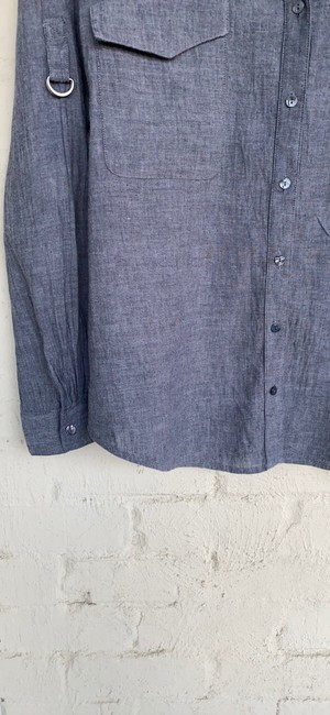 Eileen Fisher Grey Na Button-down Top Size 6 (S) Eileen Fisher Grey Na Button-down Top Size 6 (S) Image 5
