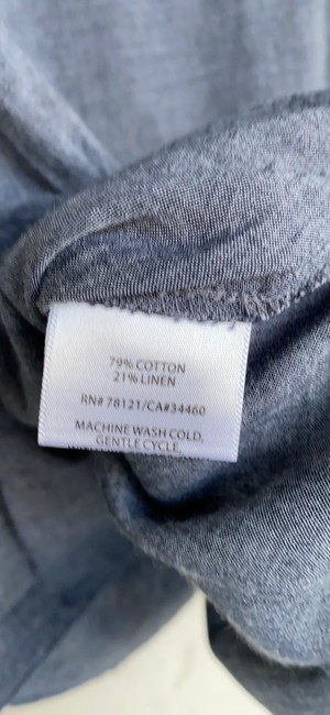 Eileen Fisher Grey Na Button-down Top Size 6 (S) Eileen Fisher Grey Na Button-down Top Size 6 (S) Image 7