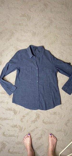 Eileen Fisher Grey Na Button-down Top Size 6 (S) Eileen Fisher Grey Na Button-down Top Size 6 (S) Image 9
