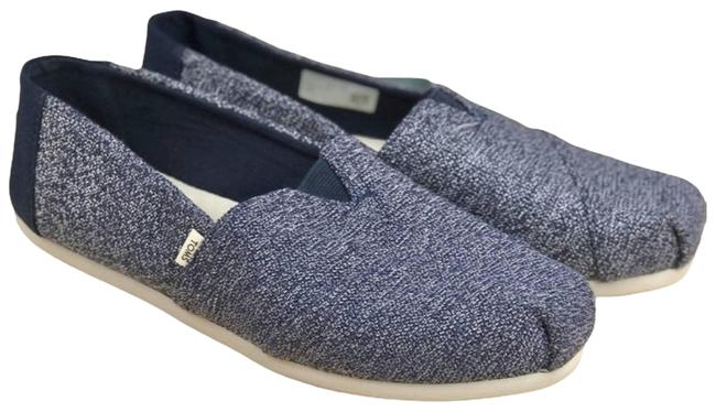 Item - Blue Navy Terry Cloth Classic Flats Size US 8 Regular (M, B)