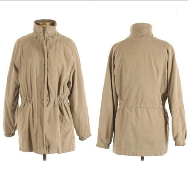 Item - Tan Insulated Parka Drawstring Coat Size 4 (S)