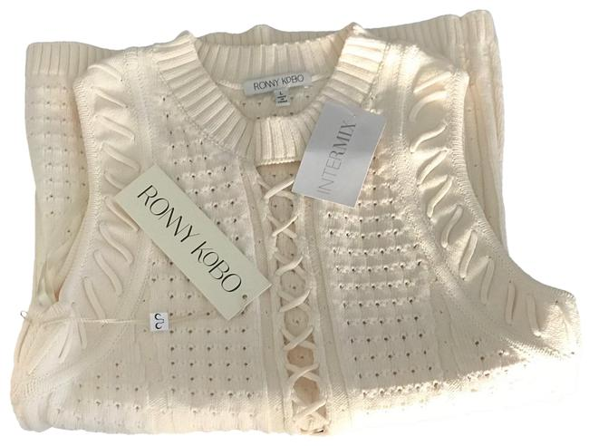Item - Ivory Mira Lace Up Tank Top/Cami Size 12 (L)