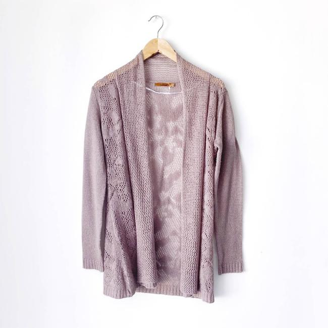 Item - Purple Mauve Knit Crochet Back Cardigan Size 8 (M)