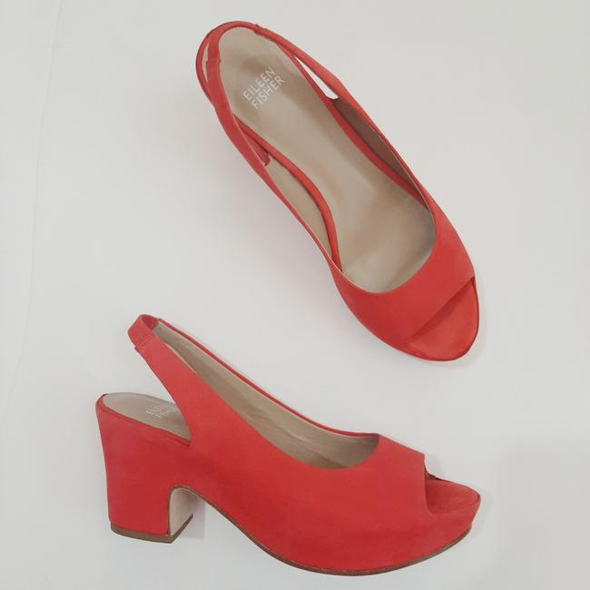 Item - Coral Chunky Heels Platforms Size US 8.5 Regular (M, B)
