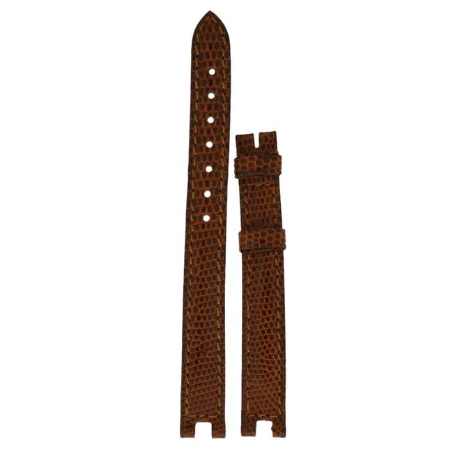 Item - Honey Brown Beige Vendome 11mm X 10mm Lizard Tang Strap Watch