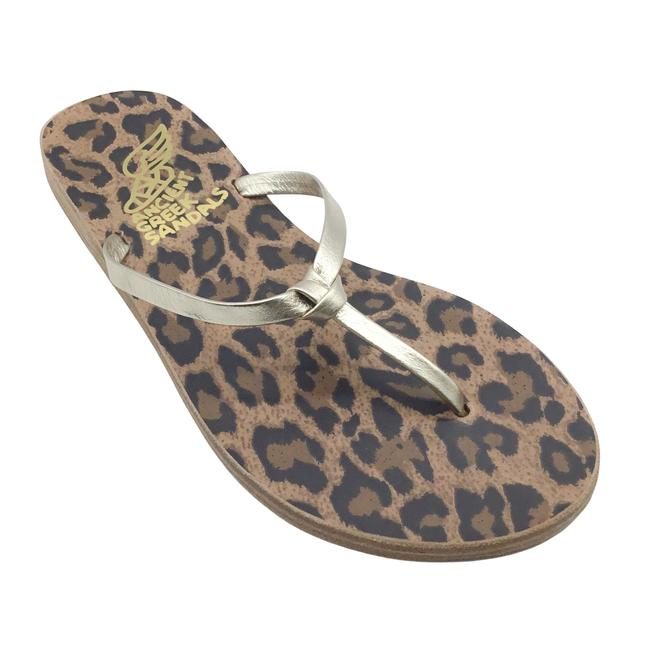 Item - Gold Doro Leather Knotted Thong Sandals Size EU 35 (Approx. US 5) Regular (M, B)