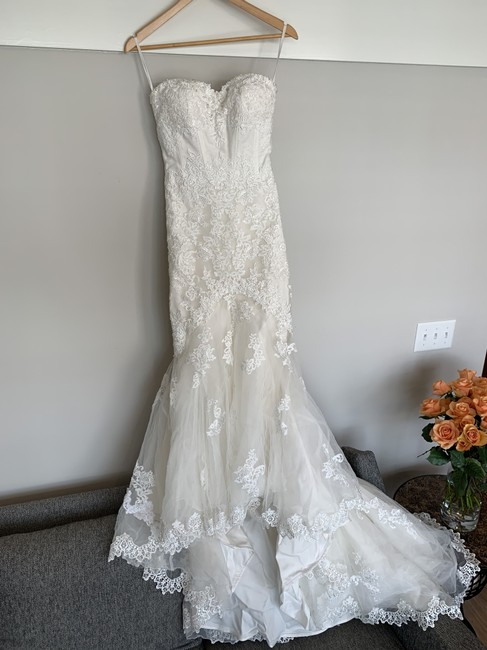 Item - White Embroidered By Pronovias Formal Wedding Dress Size OS