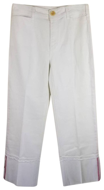 Item - Pilcro and The Letterpress White High Cuff Capri/Cropped Jeans Size 26 (2, XS)
