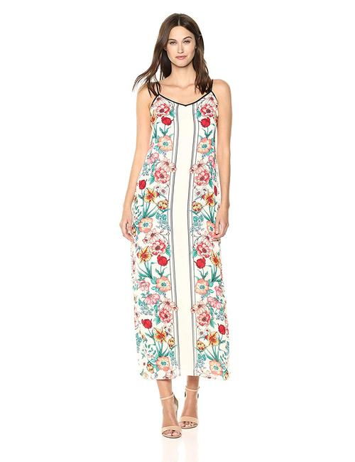 Item - White Multi Sleeveless Floral Print Long Casual Maxi Dress Size 8 (M)