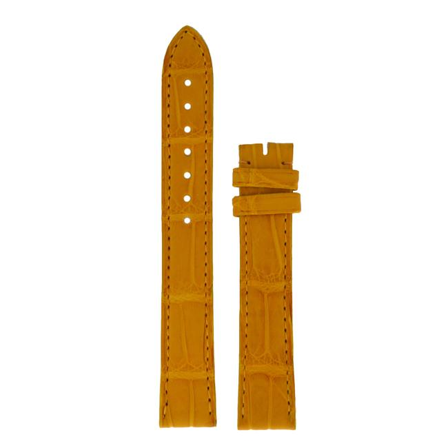 Item - Yellow 15mm X 14mm Alligator Leather Tang Strap Watch