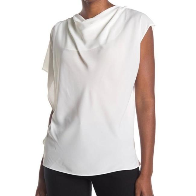 Item - White Asymmetric Sleeve Blouse Size 10 (M)