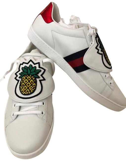 Item - White Red and Blue Pineapple Sneakers Size US 10 Regular (M, B)