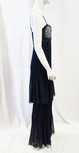 Chanel Evening Couture Silk Pleated Sequin Dress