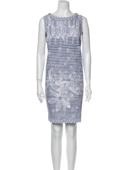 Item - Blue S/S 2014 Art Collection Karl Lagerfeld Knit Shift Short Casual Dress Size 4 (S)