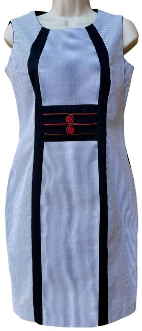 Item - Two Tone Fitted Italy Made Mid-length Work/Office Dress Size 10 (M)