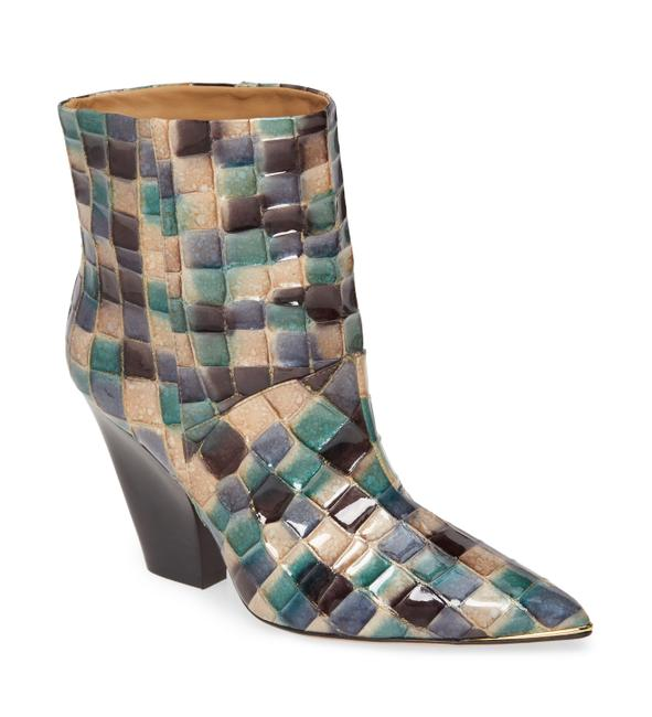 Item - Multicolor Lil Patchwork Leather Ankle Boots/Booties Size US 6.5 Regular (M, B)
