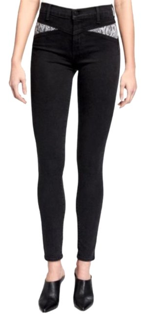 Item - Black Gray Neiman Marcus Maria High Rise Skinny Jeans Size 28 (4, S)