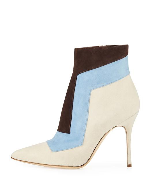 Item - Multicolor Layevitch Colorblock Suede Leather Zip Ankle Boots/Booties Size EU 35 (Approx. US 5) Regular (M, B)