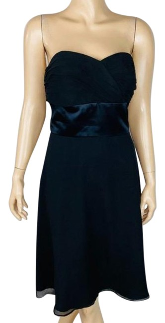 Item - Cocktail Strapless Silk Mid-length Short Casual Dress Size 6 (S)