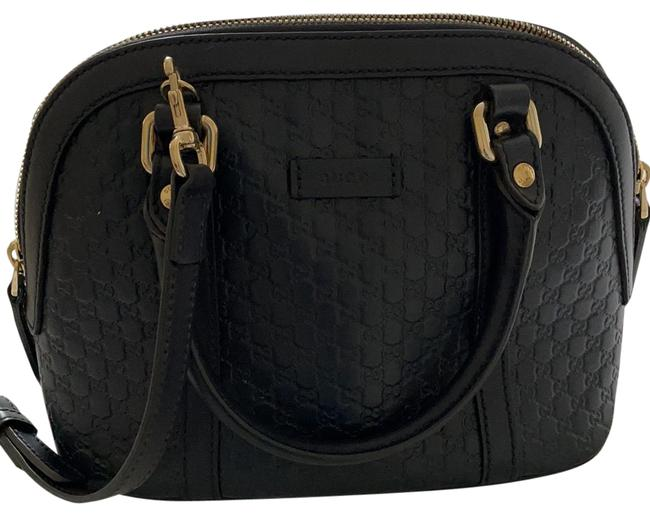 Item - Microguccissima Navy Blue Lambskin Leather Cross Body Bag