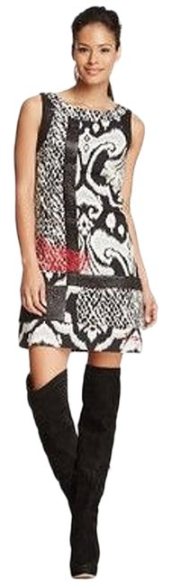 Item - Black/Red/White Short Casual Dress Size 4 (S)