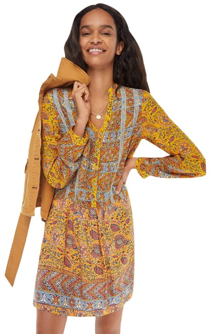 Item - Yellow New Ismelda Tunic By Tiny Short Casual Dress Size 10 (M)