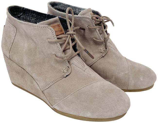 Item - Taupe/Tan/Light Gray Desert Wedge Boots/Booties Size US 9 Regular (M, B)