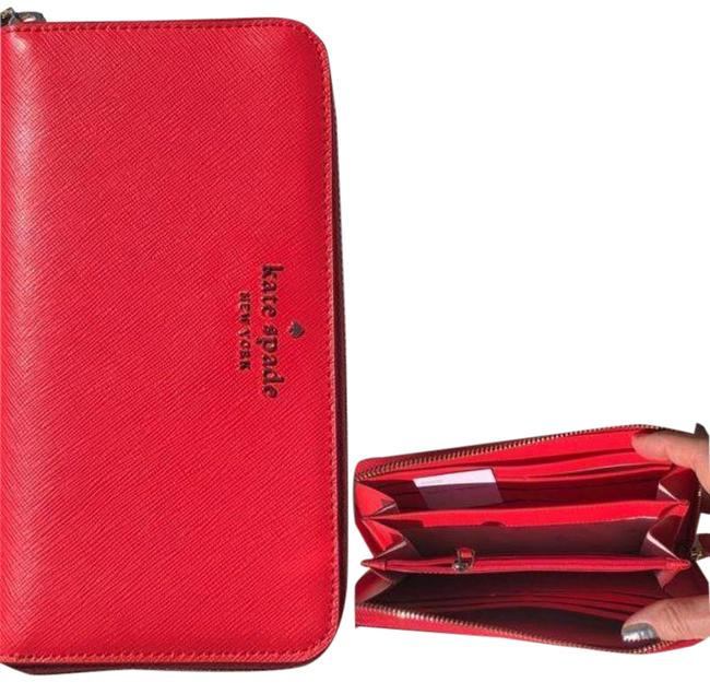 Item - Red Large Continental Staci Wallet