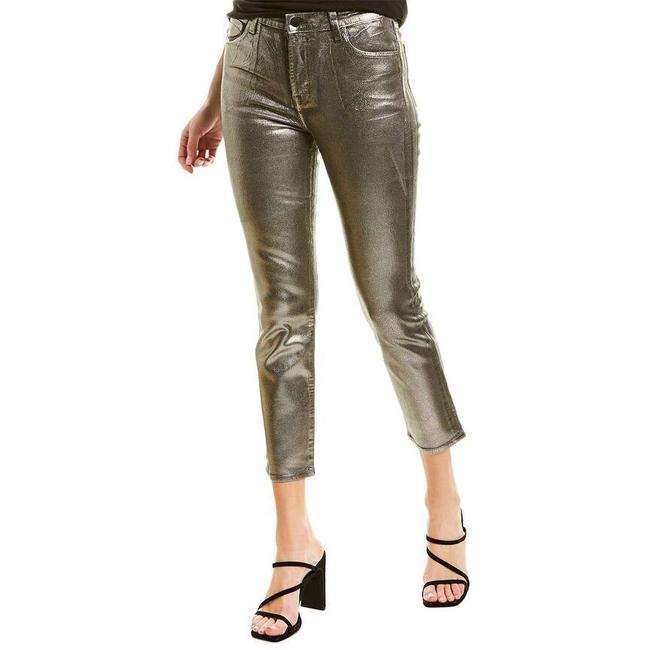 Item - Coated Silver Ruby High-rise Cropped Cigarette Skinny Jeans Size 8 (M, 29, 30)
