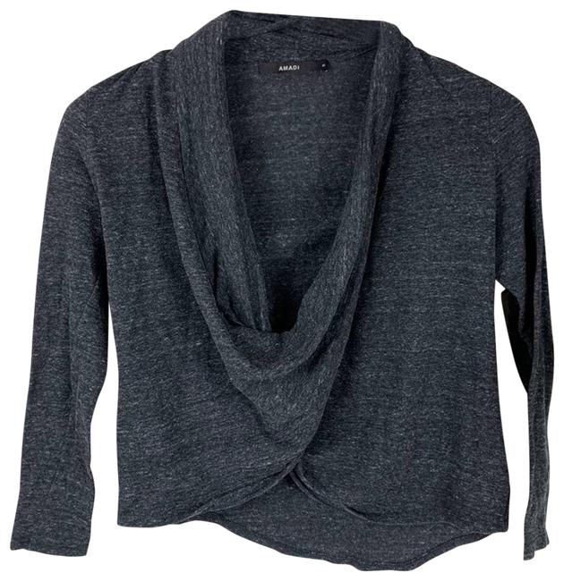 Item - Gray Amadi Cropped Womens Small Blouse Size 4 (S)