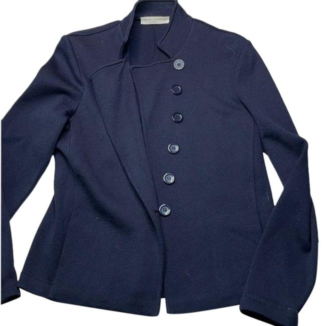 Item - Navy Asymetrical Cardigan Size 14 (L)