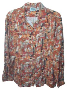 Chico's Button Down Shirt Multi color