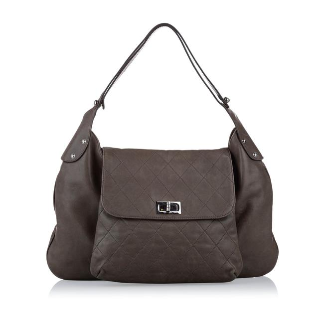 Item - Classic Flap 2.55 Reissue Ity Card Brown Lambskin Leather Shoulder Bag