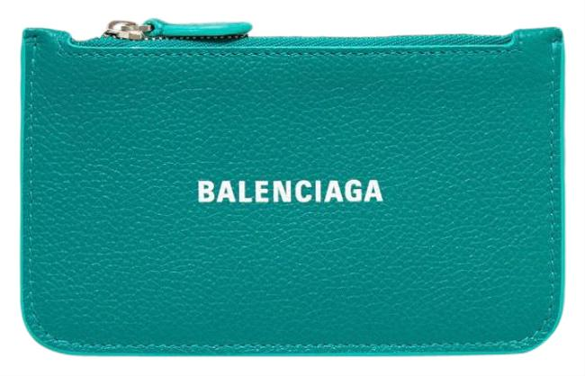 Item - Green Cash Printed Textured-leather Wallet