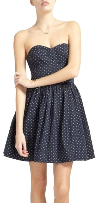Item - Blue Navy Strapless Anchor Short Casual Dress Size 4 (S)