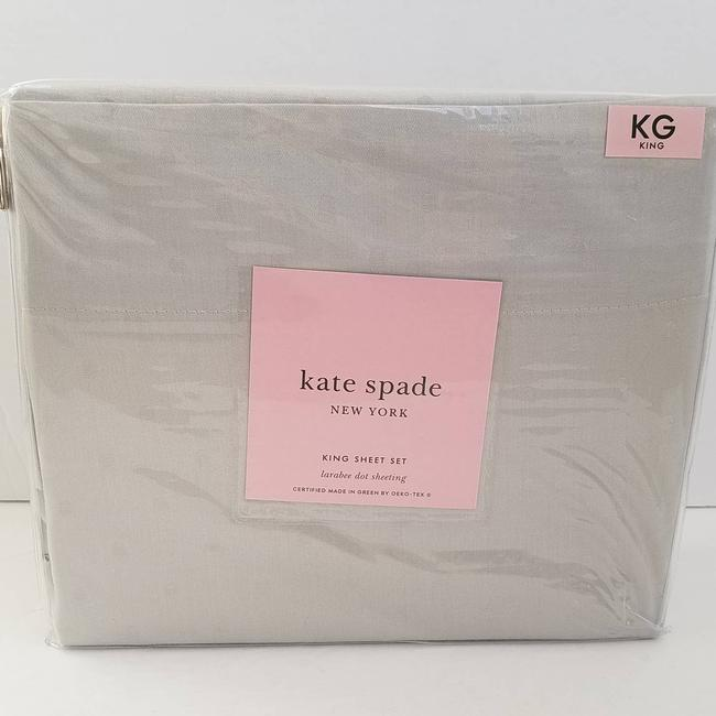 Item - Gray New York Larabee Dot King Sheet Set Cotton Light Other