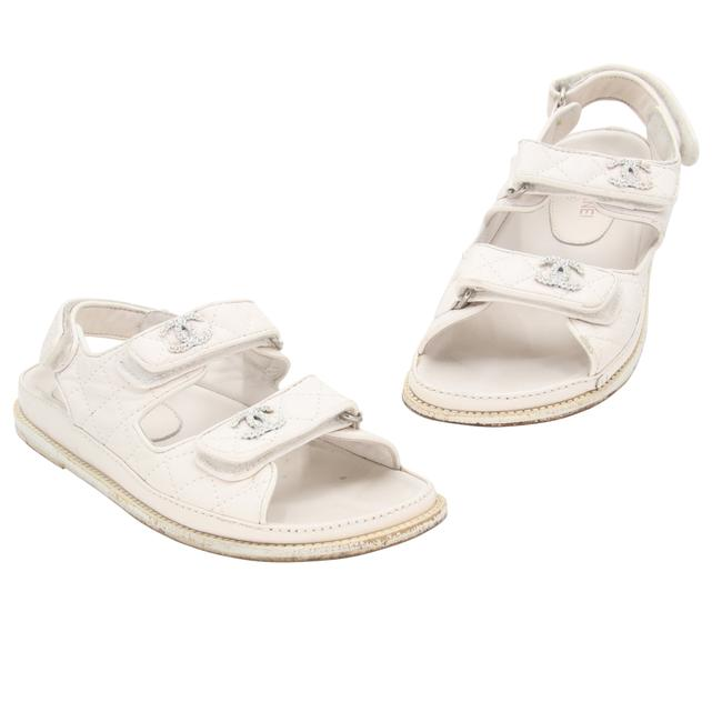 Item - Off White Quilted Leather Lambskin Dad Flats 38 Sandals Size US 8 Regular (M, B)