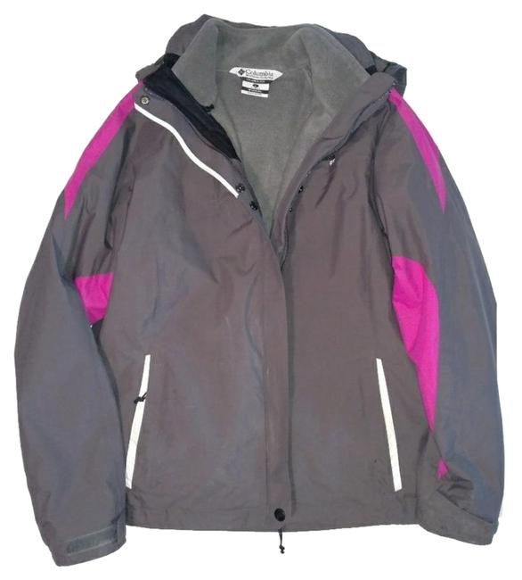 Item - Grey and Pink In 1 Winter Jacket Coat Size 12 (L)