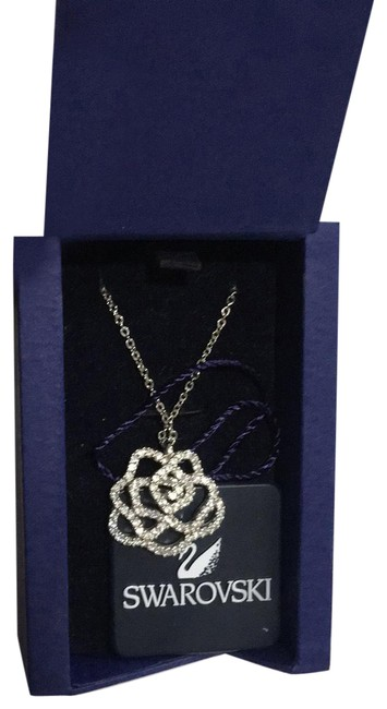 Item - Silver Hortense Pendant Cry/Rhs Necklace