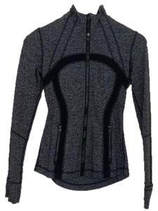 lululemon athletica Lululemon Define Jacket Soft Mini Check Black Heathered Coal - 4