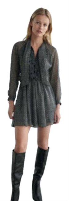 Item - Gray Printed with Metallic Thread Short Casual Dress Size 0 (XS)